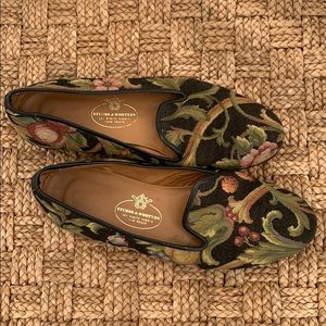 Stubbs & Wootton Tapestry Fabric loafers 7.5 prep!